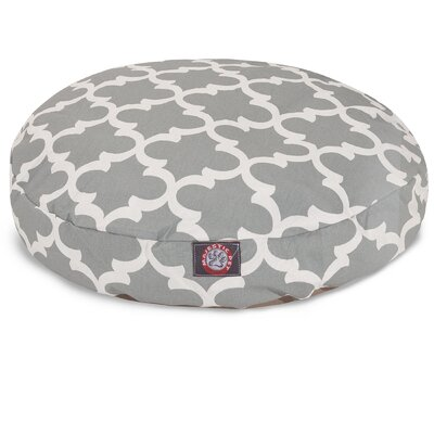 Trellis Round Dog Bed Size: Large (42 L x 42 W), Color: Gray