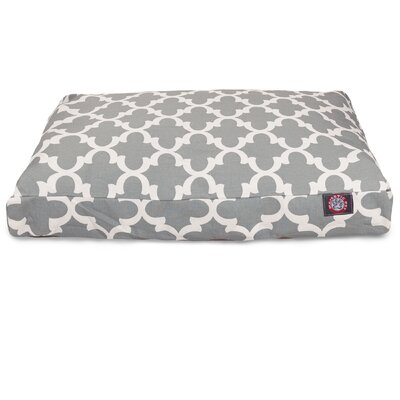 Trellis Rectangular Pillow Pet Bed Size: Large (50 W x 42 D), Color: Gray