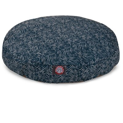 Navajo Round Pet Bed Size: Medium - 36 L x 36 W, Color: Navy