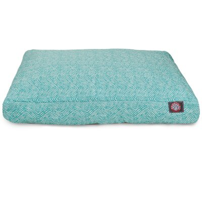 Navajo Pillow Dog Bed Color: Teal, Size: Medium (44 L x 36 W)