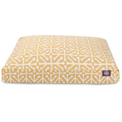 Aruba Rectangle Pet Bed Size: Large, Color: Orange