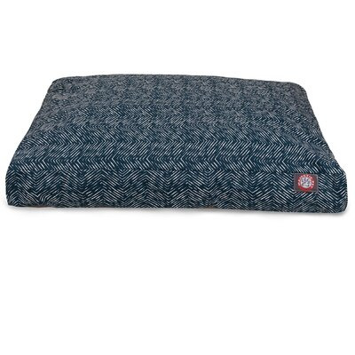 Southwest Pillow Dog Bed Size: Small (36 L x 29 W), Color: Navy