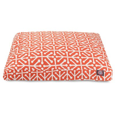 Aruba Rectangle Pet Bed Size: Medium, Color: Orange