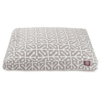 Aruba Rectangle Pet Bed Size: Small, Color: Gray