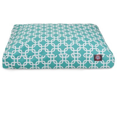 Links Pillow Pet Bed Size: Small  (36 L x 29 W), Color: Teal