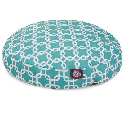 Links Round Pet Bed Size: Large (42 W x 42 W), Color: Teal