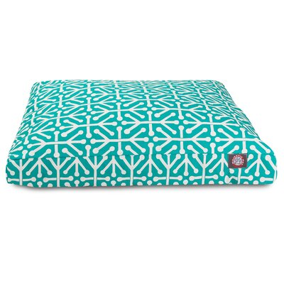 Aruba Rectangle Pet Bed Size: Small, Color: Pacific