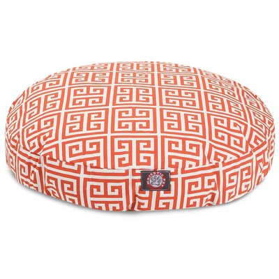 Towers Round Pet Bed Size: Small (30 L x 30 W), Color: Orange