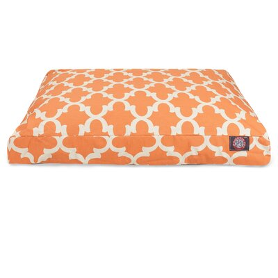 Trellis Rectangular Pillow Pet Bed Size: Medium (44 W x 36 D), Color: Peach