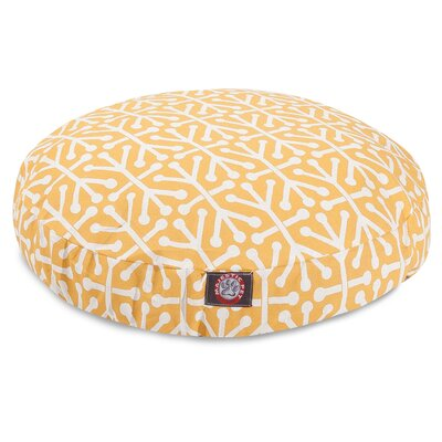 Aruba Pillow Dog Bed Color: Citrus, Size: Large (42 W x 42 D)