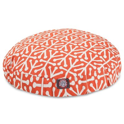 Aruba Pillow Dog Bed Size: Small (30 W x 30 D), Color: Orange