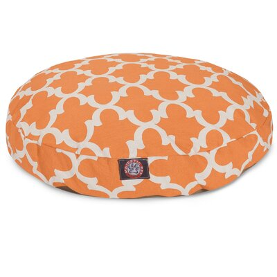 Trellis Round Dog Bed Color: Peach, Size: Large (42 L x 42 W)