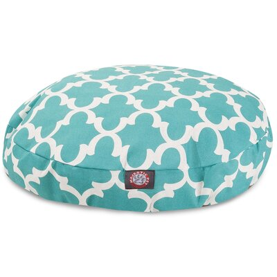 Trellis Round Dog Bed Size: Medium (36 L x 36 W), Color: Teal
