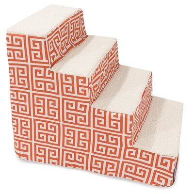 Towers 4 Step Pet Stair Color: Orange