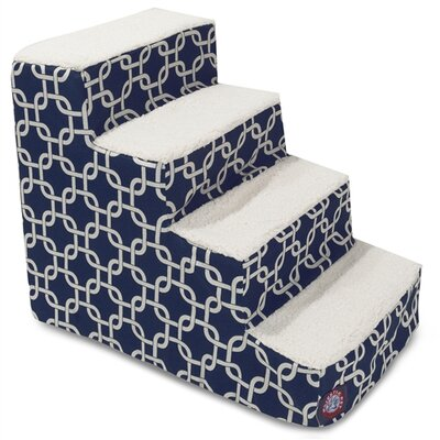 Links 4 Step Pet Stair Color: Navy Blue