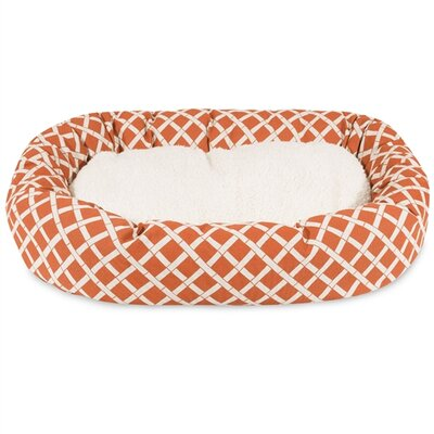 Bamboo Sherpa Bagel Pet Bed Size: Small (24 W x 19 D), Color: Burnt Orange