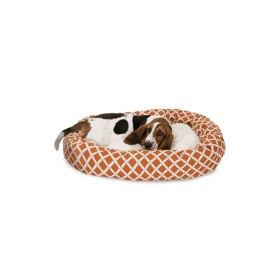 Bamboo Sherpa Bagel Pet Bed Size: Medium (32 W x 23 D), Color: Burnt Orange