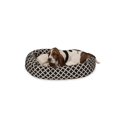 Bamboo Sherpa Bagel Pet Bed Size: Medium (32 W x 23 D), Color: Black