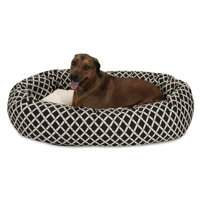 Bamboo Sherpa Bagel Pet Bed Size: X-Large (52 W x 35 D), Color: Black