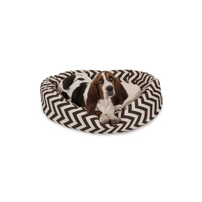 Chevron Sherpa Bagel Bolster Dog Bed Size: Medium (32