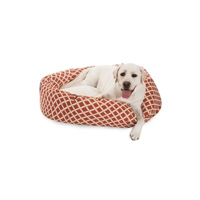 Bamboo Sherpa Bagel Pet Bed Color: Burnt Orange, Size: Large (40 W x 29 D)