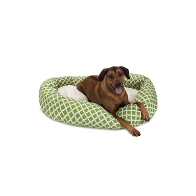 Bamboo Sherpa Bagel Pet Bed Size: X-Large (52 W x 35 D), Color: Sage
