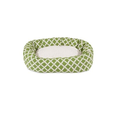 Bamboo Sherpa Bagel Pet Bed Size: Small (24 W x 19 D), Color: Sage