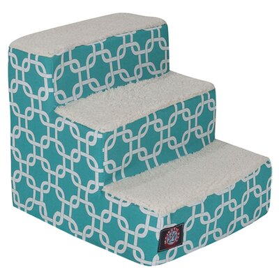 Links 3 Step Pet Stair Color: Teal
