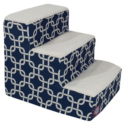 Links 3 Step Pet Stair Color: Navy Blue