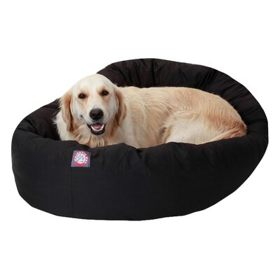 Patrice Pillow Pet Bed Size: X-Large (52 H x 35 W), Color: Black