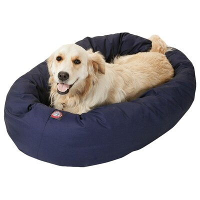 Patrice Pillow Pet Bed Size: Large (40 H x 29 W), Color: Blue
