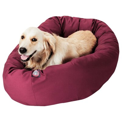 Patrice Pillow Pet Bed Size: Medium (32 H x 23 W), Color: Burgundy
