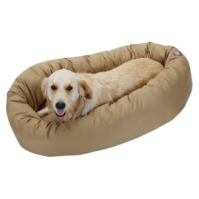 Patrice Pillow Pet Bed Size: Medium (32 H x 23 W), Color: Khaki