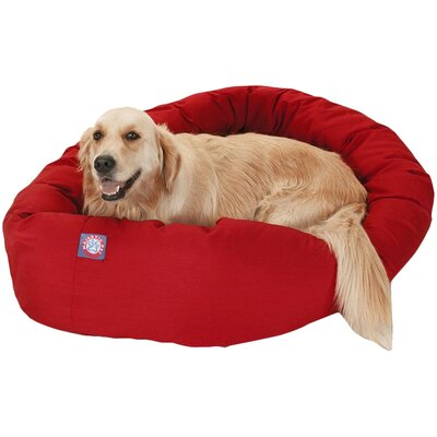 Patrice Pillow Pet Bed Size: Large (40 H x 29 W), Color: Red