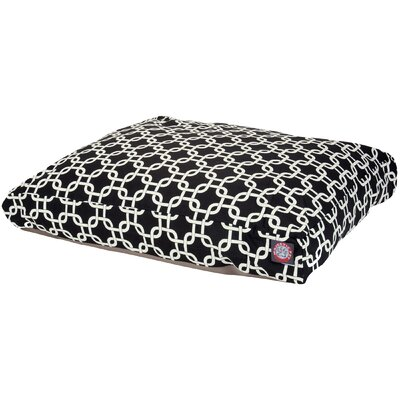 Links Pillow Pet Bed Size: Large  (50 L x 42 D), Color: Black