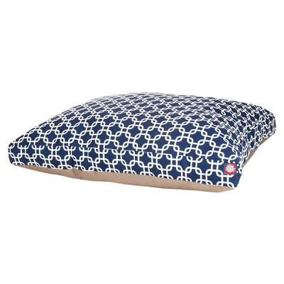 Links Pillow Pet Bed Size: Medium (44 L x 36 D), Color: Navy Blue
