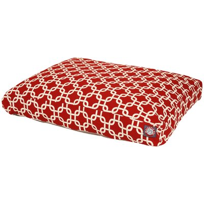 Links Pillow Pet Bed Size: Medium (44 L x 36 D), Color: Red