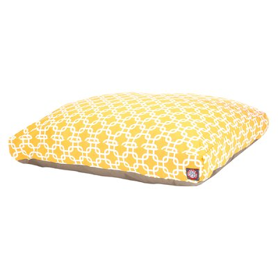 Links Pillow Pet Bed Size: Medium (44 L x 36 D), Color: Yellow
