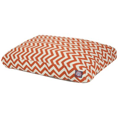 Zig Zag Pillow Pet Bed Color: Burnt Orange, Size: Medium (44 W x 36 D)