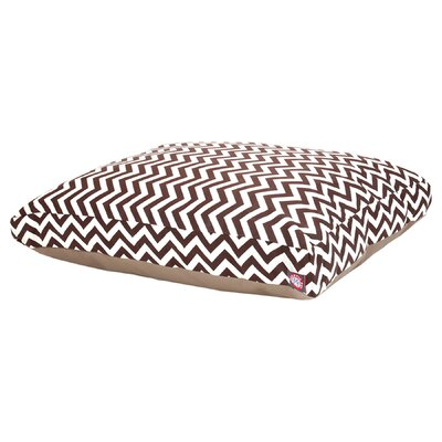 Zig Zag Pillow Pet Bed Color: Chocolate, Size: Extra Small (20 W x 27 D)