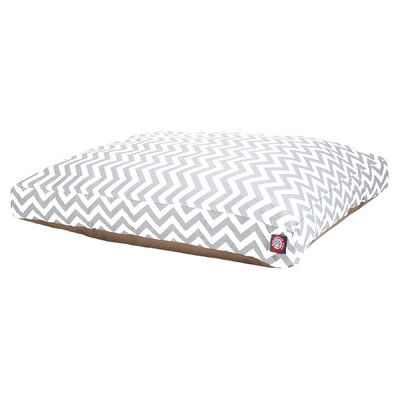 Zig Zag Pillow Pet Bed Size: Medium (44 W x 36 D), Color: Grey