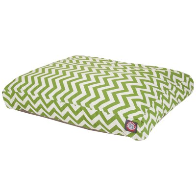 Zig Zag Pillow Pet Bed Size: Small (36 W x 29 D), Color: Sage