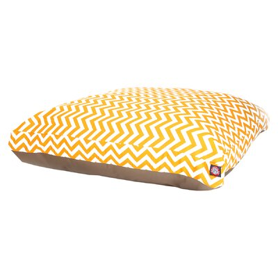 Zig Zag Pillow Pet Bed Color: Yellow, Size: Extra Small (20 W x 27 D)