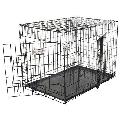 Double Door Folding Pet Crate Size: Intermediate (24 H x 26 W x 36 L)