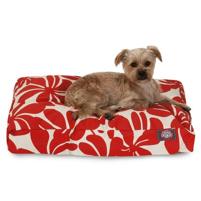 Cabana Indoor/Outdoor Pet Bed Color: Red, Size: Extra Small (20 L x 27 W)