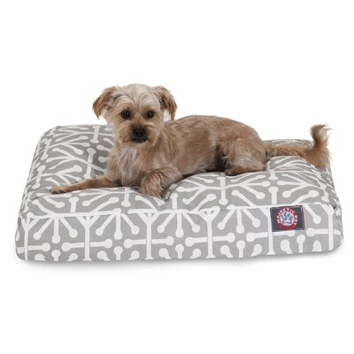 Aruba Rectangle Pet Bed Size: Extra Small, Color: Gray