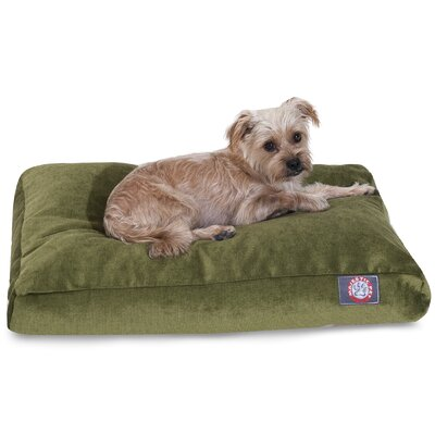 Villa Rectangle Pet Bed Color: Azure, Size: Extra Small (20