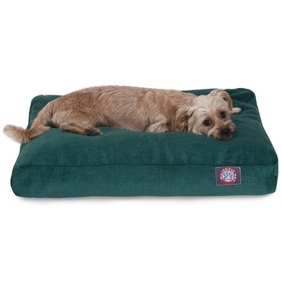 Villa Rectangle Pet Bed Size: Extra Small (20 L x 27 W), Color: Marine