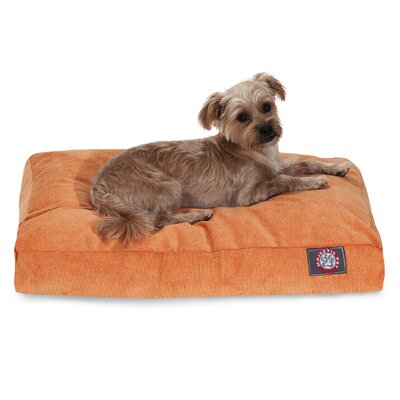 Villa Rectangle Pet Bed Size: Extra Small (20 L x 27 W), Color: Orange