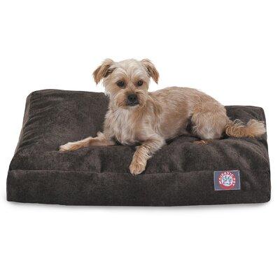 Villa Rectangle Pet Bed Size: Extra Small (20 L x 27 W), Color: Storm